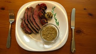 Флэнк стейк (Flank Steak) с перечным соусом