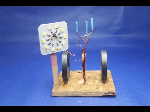 Free energy generator magnets with LDE light bulbs  - Science projects  2018