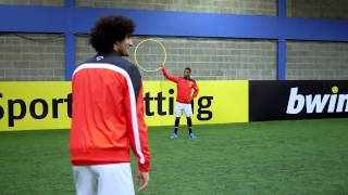Manchester United Trio Marouane Fellaini, Nani And Ashley Young Show Off Their Skills