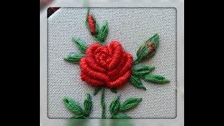 Вышивка рококо: вышиваем розу