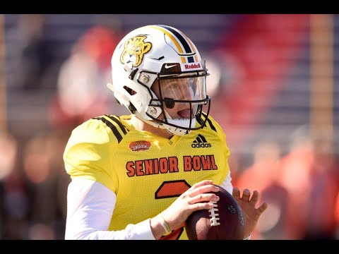 NFL Draft prospect Drew Lock successfully threw an underhand pass in the ...