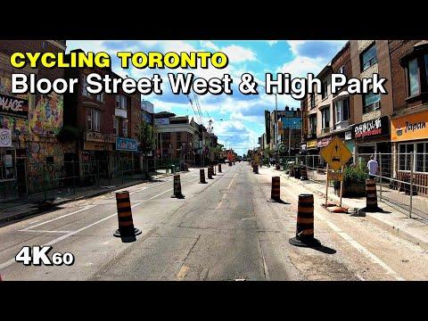 Cycling Toronto - Bloor Street West & High Park [4K60]