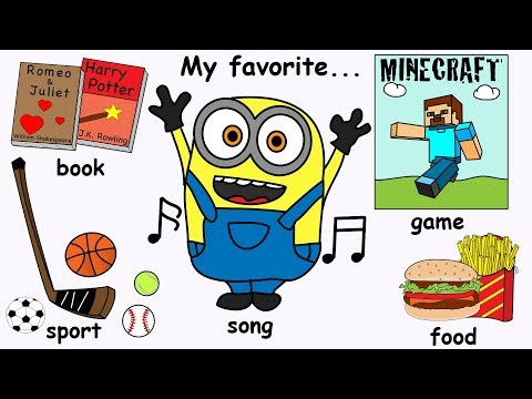 My Favorite Things Song | What's Your Favourite...? Kids Song