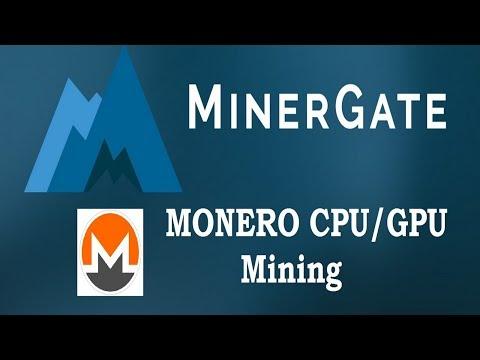 MinerGate Mining - Monero CPU/GPU Mining