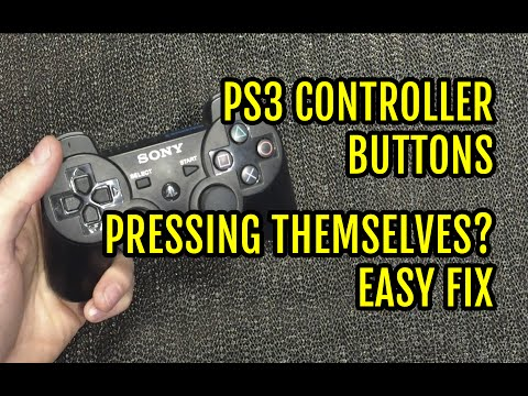 PS3 controller buttons pressing themselves fix - YouTube