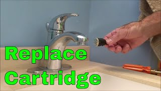 Replace Cartridge on a Single Handle Price Pfister Bathroom Faucet, Free Replacement