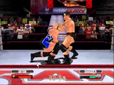 WWF No Mercy Hacked Moves (With Code) #143 RKO Setup (Mod Game *LINK* PLAYS  MP3s!!)