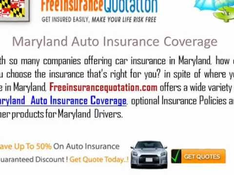 Maryland  Auto Insurance Company - Maryland State Car Insurance