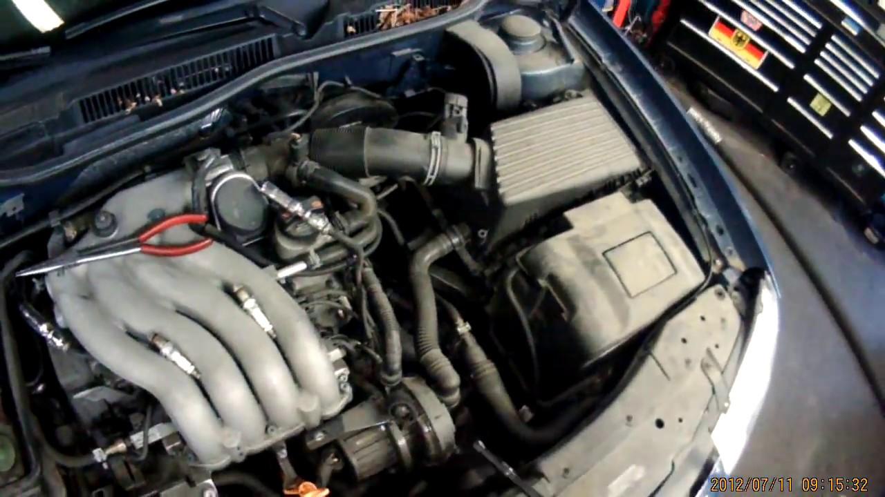 2002 VW 20L AVH Spark plug & Air Filter Removal  YouTube