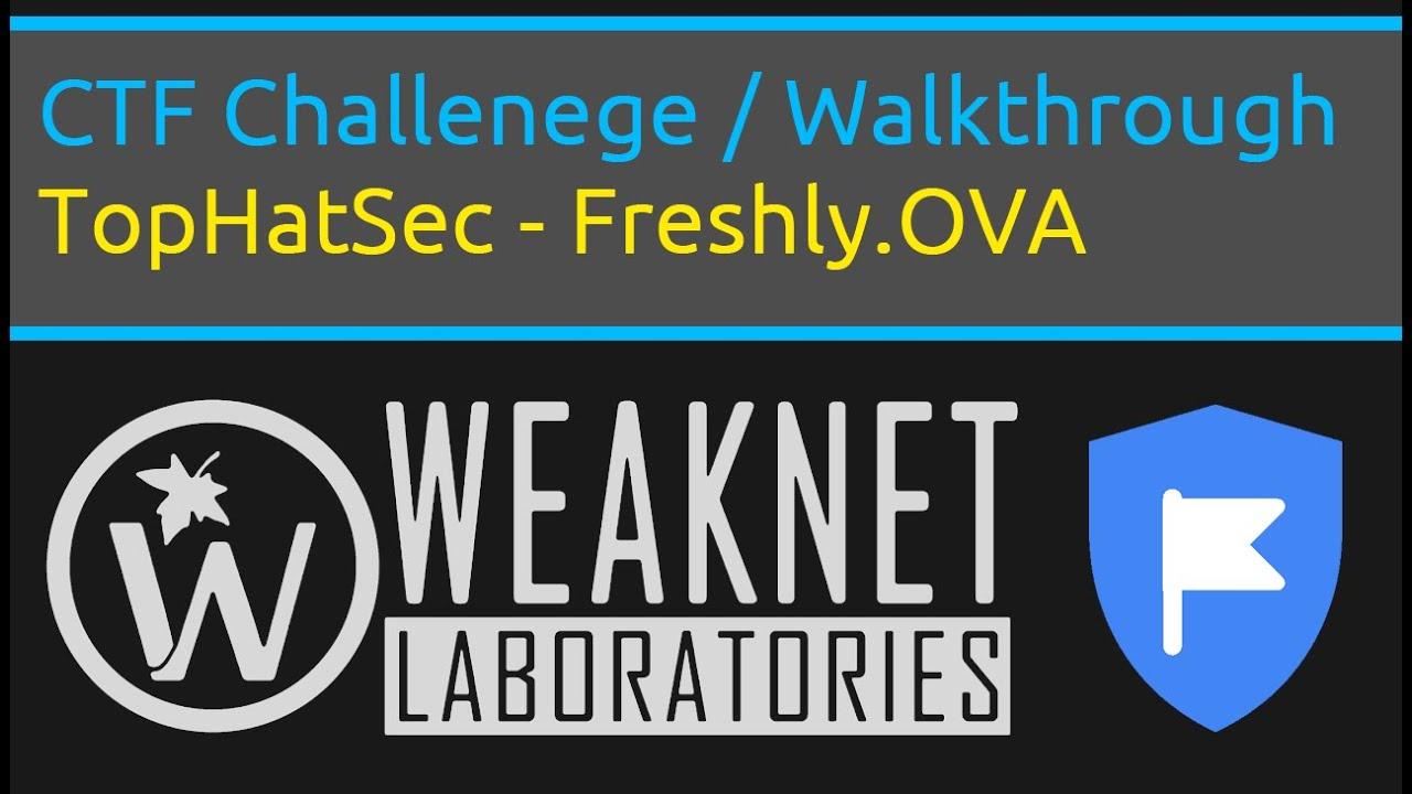 TopHatSec - CTF Challenge - Freshly OVA