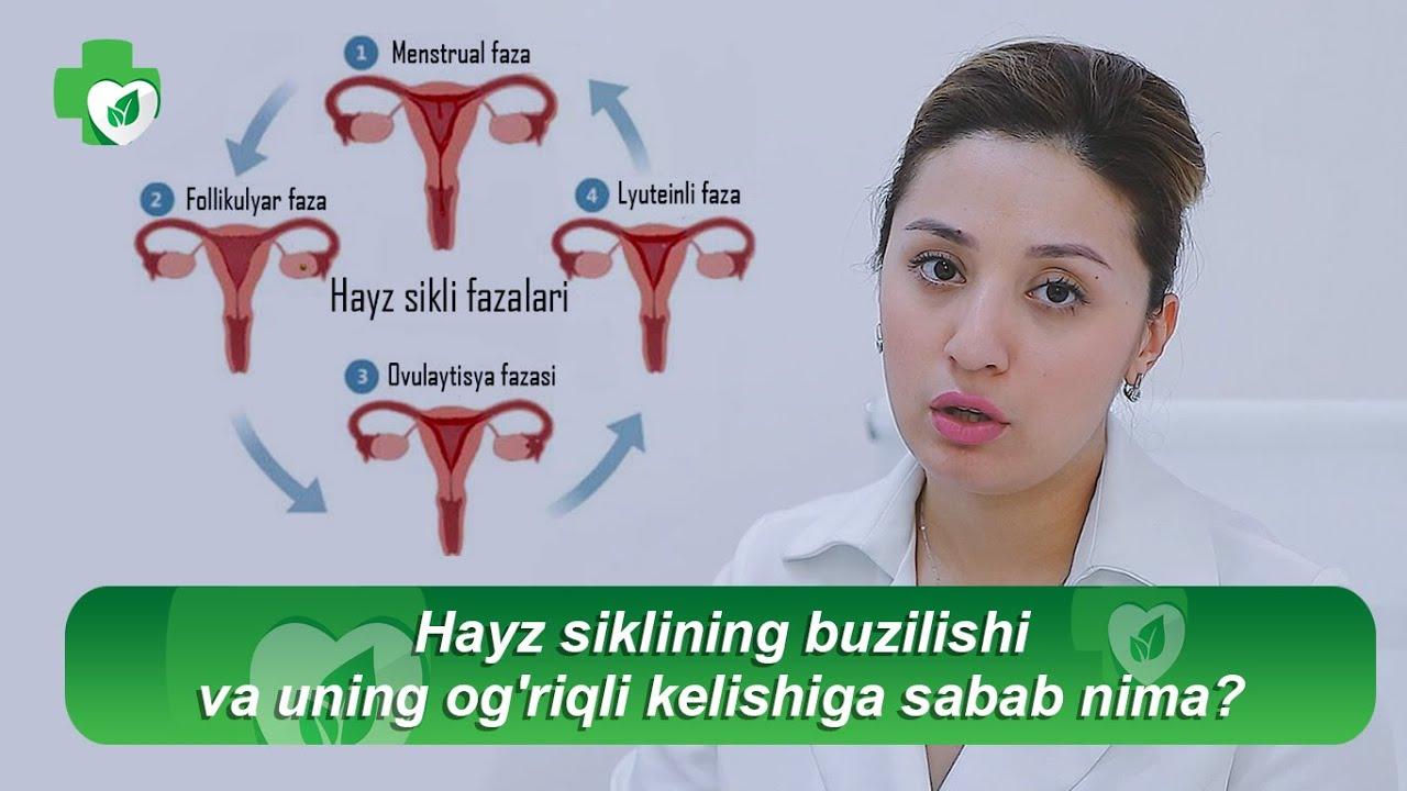 Hayz siklining buzilishi va uning og'riqli kelishiga sabab nima?