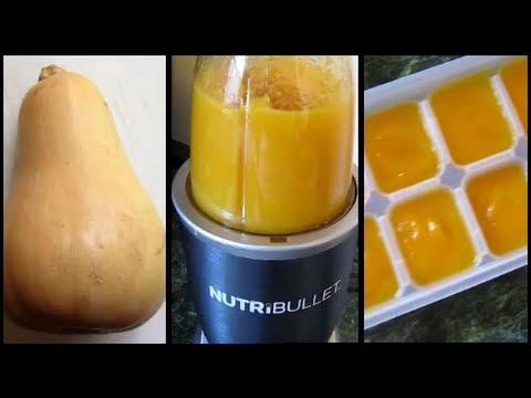 How To Make Store Homemade Butternut Squash Puree Baby Food Youtube