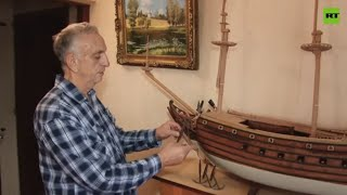 Seasick, but in a creative way | A ship modeler creates sailboats of the past from wood
