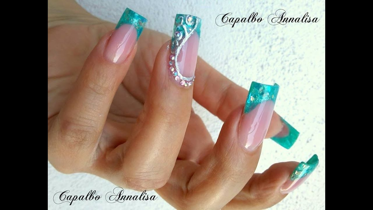 EASY NAIL ART - NAIL ART TRANSFER FOIL WITH GLUE FOILING - YouTube