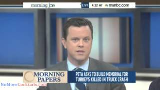 Morning Joe and Mika crack up on air while trying to read story about PETA and turkeys