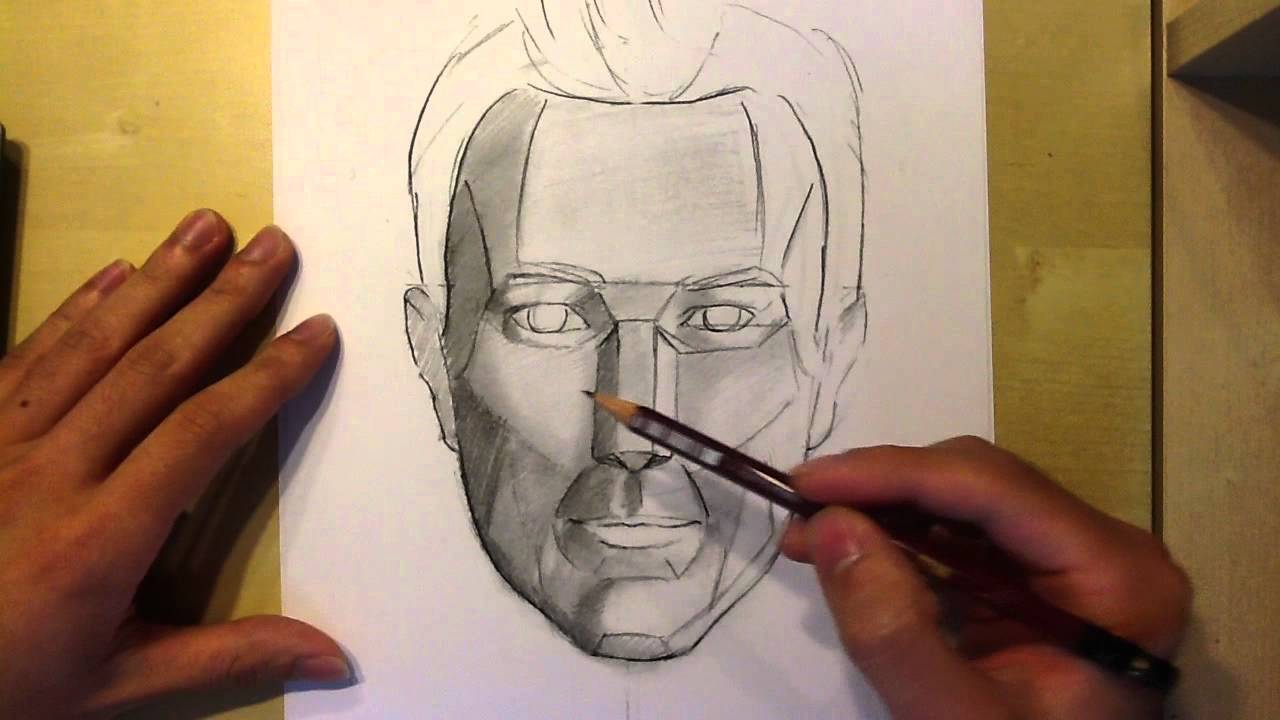 Line Drawing With Shading : Tips on drawing and shading a realistic face youtube