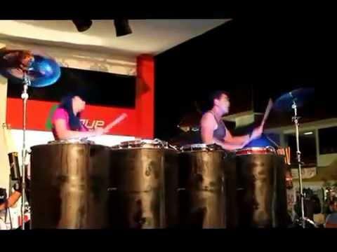 Duo Percussion Drum Light Live @ LEAGUE Stage PRJ 2012