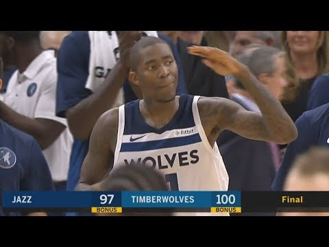 Jamal Crawford Clutch 3 28 Secs! Ricky Rubio Returns Minnesota! Jazz vs Timberwolves