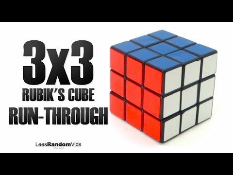 How to Solve a Rubik's Cube 3x3 - Short & Fast Run-Through Solution (2018)