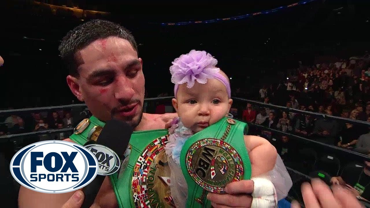 Danny Garcia Wins WBC Welterweight Belt Celebrates With
