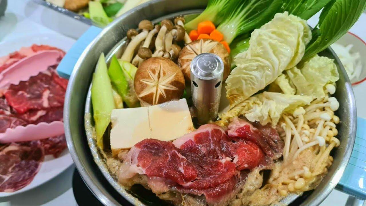 สุกี้ยากี้ หม้อไฟญี่ปุ่นทำกินเองที่บ้านได้ง่ายๆ พร้อมรีวิวหม้อสุกี้สุดไฮเทค l อร่อยพุง