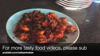 Prawns Fry Recipe Dhaba Style | Indian Street Food | Kerala Recipes