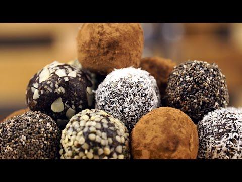 Raw Vegan Chocolate Energy Balls Dessert Recipe