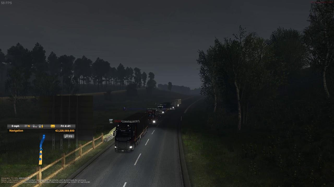 ETS2 - TMP - Calais - Duisburg Road Traffic Jam - YouTube