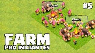 ESTRATÉGIA TOP DE FARM - Começando no Clash of Clans #5