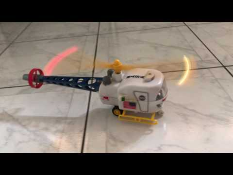 MARX Toys HK Battery Operated US NASA MOON SCOUT Space Helicopter Toy