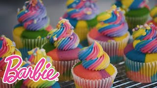 Barbie Rainbow Cupcakes | Cooking and Baking | Barbie