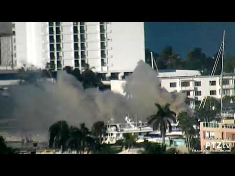 Boat Fire at Bahia Mar Marina Fort Lauderdale on 12/31/2018