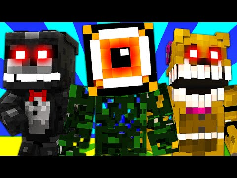 FNAF World - EYESORE BOSS! (Minecraft Roleplay) Night 25