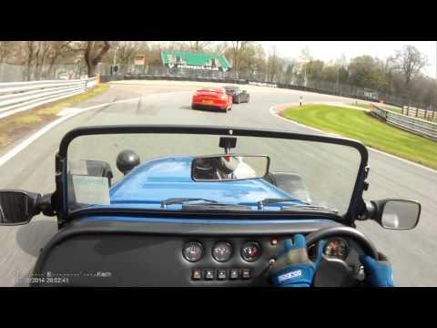 Westfield vs Porsche GT4 and Nissan GTR. Oulton Park 2016
