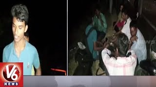 Private Travels Bus Roll Over In Wanaparthy District | V6 News
