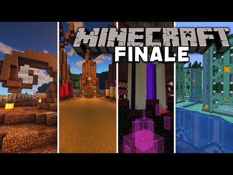 The Season FINALE World Tour & Enchanted Forest Build | Minecraft Let's Play | Season 1 Finale