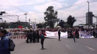 Manifestación del Instituto Politécnico Nacional (IPN), en contra del plan de estudios