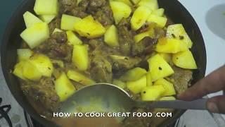 Lamb & Potato Curry Recipe - Mutton Aloo Masala