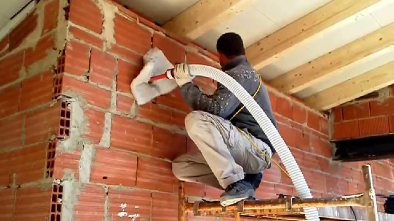 Insuflado celulosa bocairente aislamiento ac stico t rmico youtube - Aislamiento paredes exteriores ...