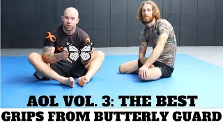 Grips from butterfly guard : Sample from Art Of Learning Vol. 3  - No gi