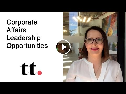 Corporate Affairs Leadership Opportunities