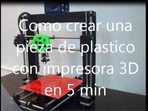 Como crear una pieza en 5 min con impresora 3d dise ada en for Como disenar una habitacion en 3d
