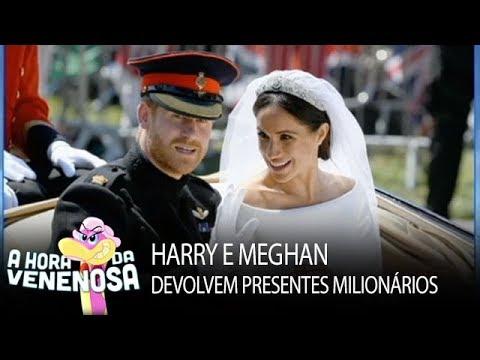 Príncipe Harry e Meghan devolvem cerca de R$35 milhões em presentes