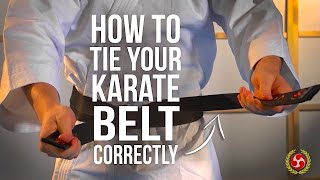 How To Tie Your Karate Belt Correctly