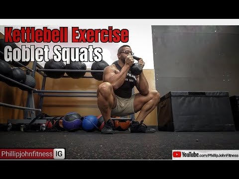 How To Do Goblet Kettlebell Squats | Quad Bulge Gains