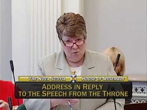 NDP Leader Maureen MacDonald address in reply to speech from throne