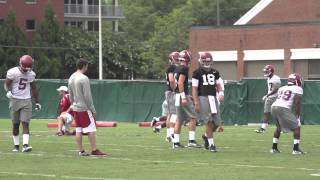 Watch Jake Coker in Alabama's first practice