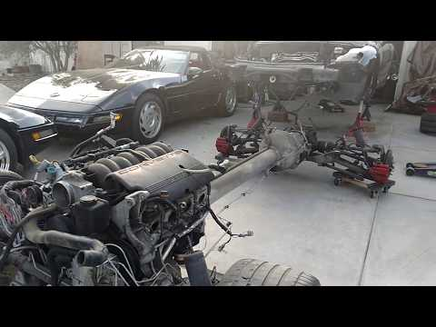 Corvette C5 Powertrain + Suspension Extracted!! Body & Frame Lift Off
