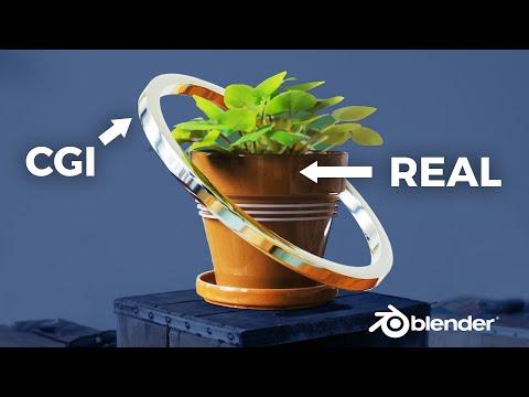 Composite CGI Around Real Object - Blender VFX Tutorial (FULL)