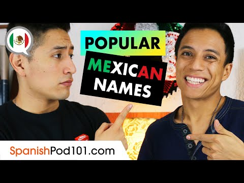 Most Common Mexican Names